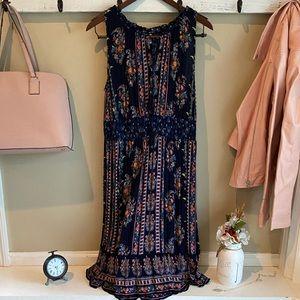 Bundle & Save Navy Flower Summer Dress Size XL